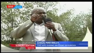 Chaos erupts as Nakuru Governor Kinuthia Mbugua and Lee Kinyanjui clash in political meeting