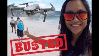 Busted! Escorted for flying a drone in Boracay