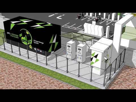 台灣中油智慧綠能加油站 嘉義示範站 3D模型動畫