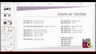 AULA 01 - Historia do MS-DOS (Do Q-DOS ao MS-DOS 6.22)