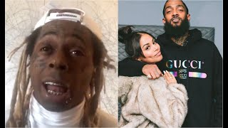 Lil Wayne Remembers Day Found Out Nipsey Hussle Died My Son Became The Man Of The House