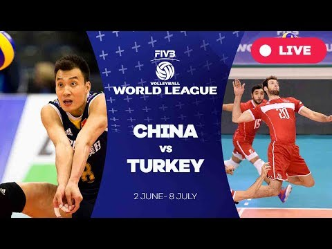 China v Turkey - Group 2: 2017 FIVB Volleyball World League