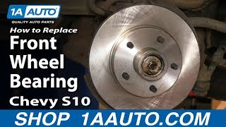 How To Replace Wheel Bearing & Hub Assembly 98 04 Chevy S10 Pickup