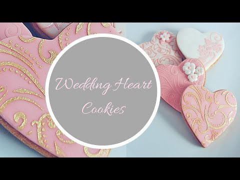 How to make WEDDING HEART COOKIE Favours Tutorial | By Ilona Deakin from Tiers Of Happiness