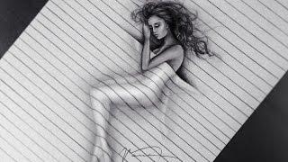 3D Drawing Illusion - Trick Art