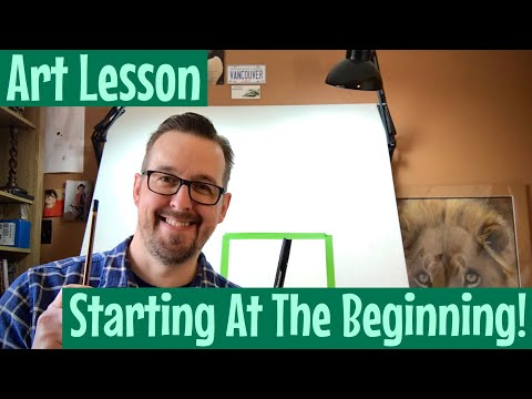 Art Lesson for Kids and Beginners - Basic drawing lesson - Fun art learning to draw - You can draw