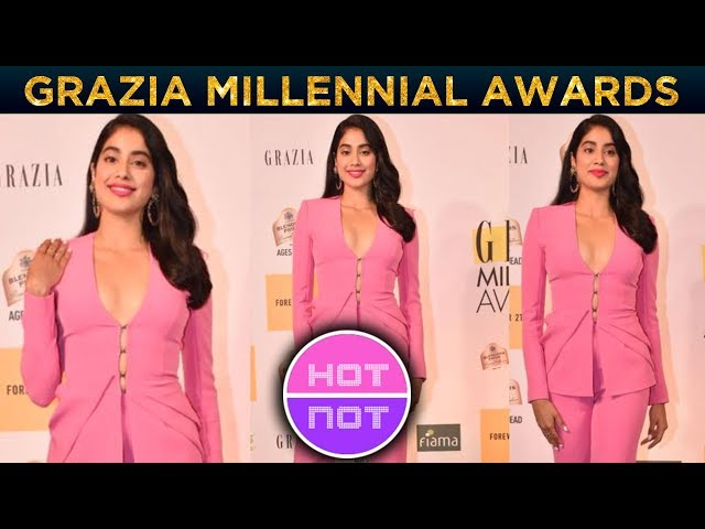Janhvi Kapoor's In A Pink Suit | BEST Or WORST DRESS | Grazia Millennial Awards 2019