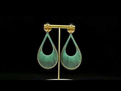 Handmade Knitting Dangle Earrings