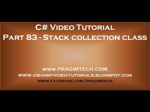 Part 83   Generic Stack Collection Class Mp3