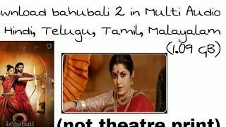 baahubali 2 the conclusion full movie telugu hd 720p