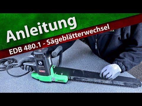 Anleitung: EDB 480 -  Sägeblätterwechsel