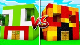UNSPEAKABLE HOUSE vs PRESTON HOUSE IN MINECRAFT!