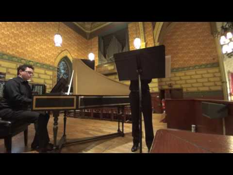 Biber Mystery Sonata no. 8 on baroque violin. Sorry my face is blocked by the stand.