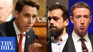Josh Hawley NAILS Zuckerberg to alignment with Twitter and Google in masterful cross examination in