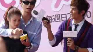 20091031桃花小妹見面會台北場-辰亦儒餵李佳穎吃冰
