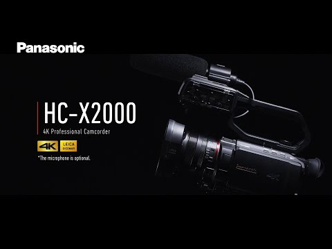 Introducing Panasonic 4K Professional Camcorder HC-X2000