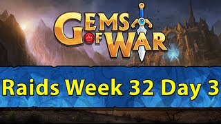⚔️ Gems of War Raids | Week 32 Day 3 | New Whitehelm Pet and Gold Farming ⚔️