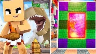 Как Сделать Портал в Мир ДИНОЗАВРОВ ! Новый Мультик и Динозавры для детей ! Дети Майнкрафт Вайнран