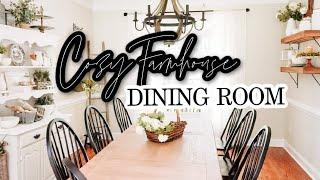 Cozy Farmhouse Dining Room Decor Tour | Dining Room Decorating Ideas