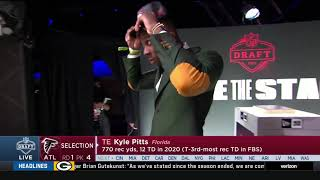 Falcons Select Kyle Pitts w/ #4 Pick | 2021 NFL Draft