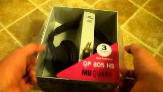 MB Quart QP-805hs headphones unboxing