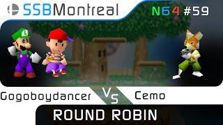 Gogoboydancer (Ness, Luigi) vs Cemo (Fox) - SSB64 Weekly #59
