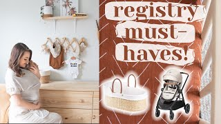 WHAT'S ON MY BABY REGISTRY as a first time mom