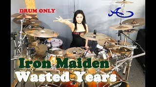Iron Maiden - Wasted Years drum-only (cover by Ami Kim) (#55-2)