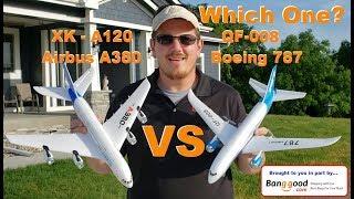 Airbus A380 (XK A120) VS Boeing 787 (QF 008)   Calm Comparison Flights