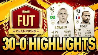 30-0 FUT CHAMPIONS HIGHLIGHTS | MY FIRST FIFA 19 GAMEPLAY