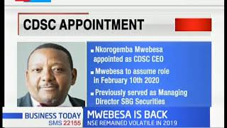 Mwebesa appointed as new CEO of CDSC, appointement effective on Feb 10th 2020