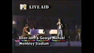 Elton John & George Michael - Don't Let The Sun Go Down On Me (MTV - Live Aid 7/13/1985)