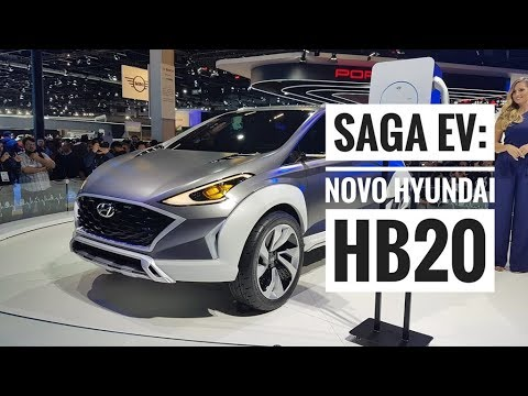 Novo Hyundai HB20 é antecipado no Salão do Automóvel pelo SAGA EV