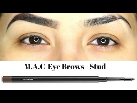 MAC Eye Brows Shade Stud || Eyebrow pencil review + Demo