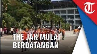 Jelang Laga El Clasico Liga 1 2019, Suporter Persija Jakarta Mulai Berdatangan ke SUGBK
