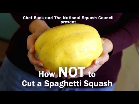 How NOT to Cut Spaghetti Squash