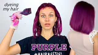 Dyeing My Hair Bright Purple For Winter