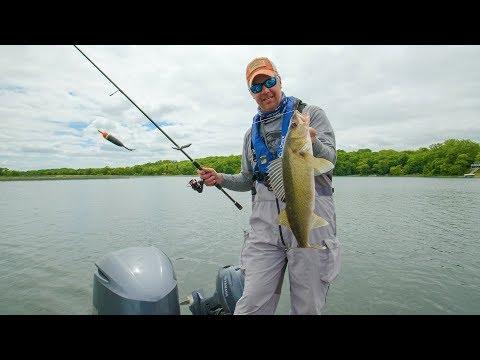 Daytime Slip BOBBER Fishing for WALLEYE! Go Angling E8