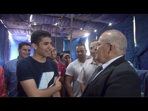 رئيس جامعة القاهرة يختبر طالب  مستجد :كنت عارفني قبل ما تيجي؟