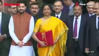 Finance Minister Nirmala Sitharaman With 'Bahi Khata'