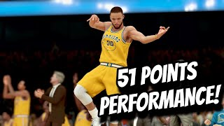 Stephen Curry Full Highlights vs Wizards (10.24.2018) 51 Points Self Globetrotter NBA 2K19