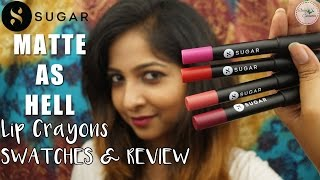 Image for video on Sugar MATTE AS HELL Lip Crayons | Swatch & Review | *NEW LAUNCH* by Stacey Castanha