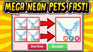 """HOW TO GET MEGA NEON PETS FAST IN ADOPT ME!!"" FASTEST WAY TO GET MEGAS HACK July 2020 (Roblox)"