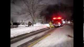 preview picture of video 'Caro House Fire January, 9th'