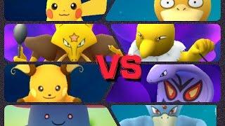 Raichu  - (Pokémon) - Pokémon GO Gym Battles Level 4 & 3 Gyms Pikachu Raichu Aerodactyl Vileplume & more
