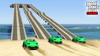 GTA V ONLINE - INCREIBLE! 3 CAMINOS!! - CARRERA GTA V ONLINE