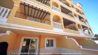 Новая 3-х комнатная квартира в Испании на побережье Коста Бланка недорого, 2 спальни и салон