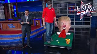 A Heckler Interrupts Stephen Colbert's Monologue