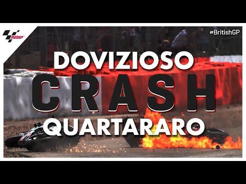 Quartararo and Dovizioso #BritishGP CRASH!