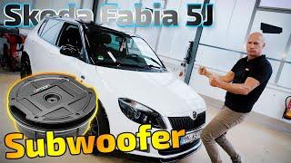 Subwoofer im Skoda Fabia 5J | Reserverad-Lösung | Option Drive11RA